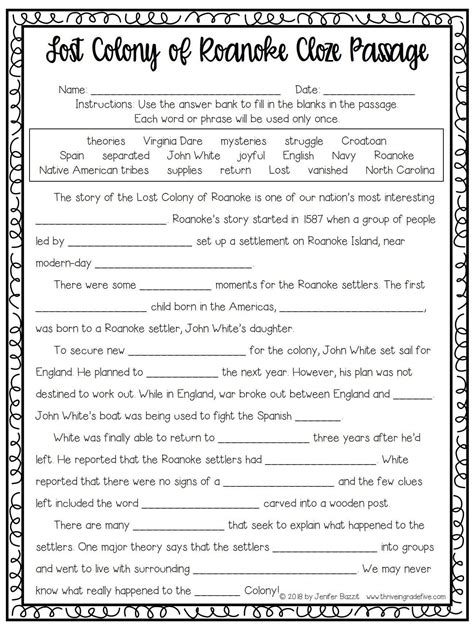 Fifth Grade History Worksheets and Printables Education