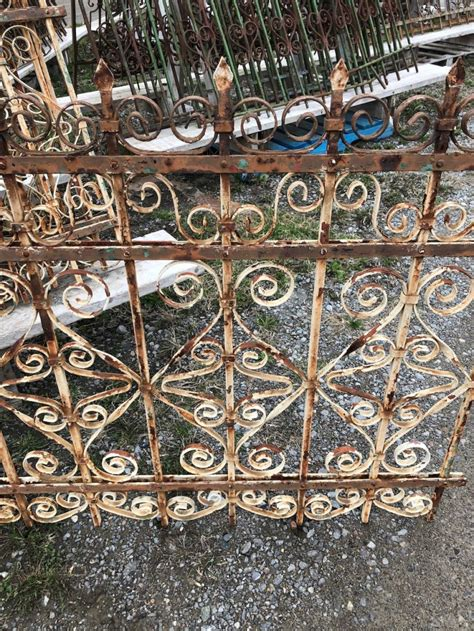 Find Wrought Iron Fencing Gates Wood Antique by