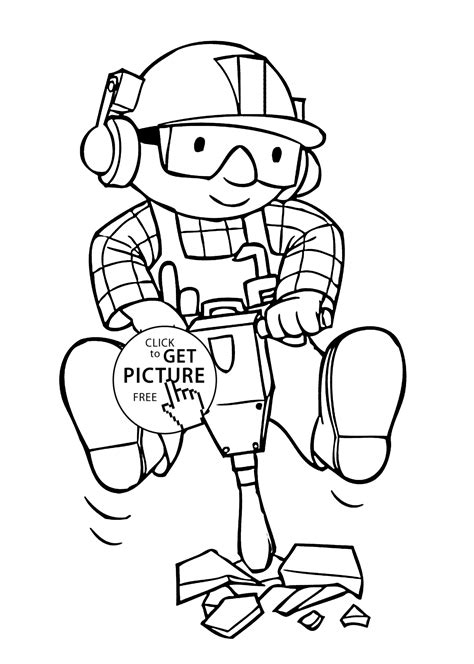Find pages to color and draw featuring Bob the Builder