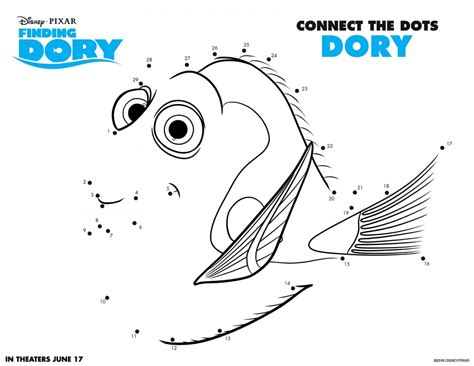 Finding Dory Coloring Pages and Activity Sheets Crazy