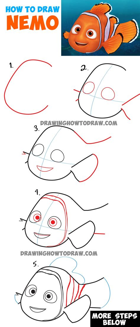 Finding Nemo Finding Dory How to Draw Step by Step