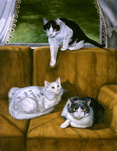 Fine Art For Cat Lovers By Drew Strouble Cat Artist Cat