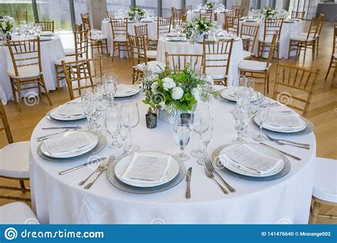 Fine Dining Table Setting Stock Photos and Images