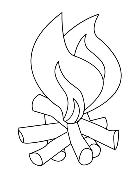 Fire Coloring Pages ColorMeGood