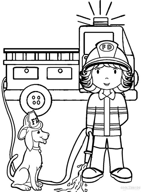 Fire Fighter Coloring Pages