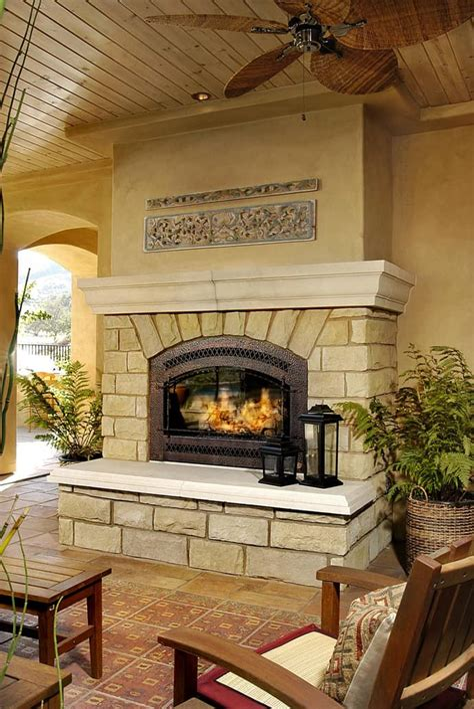 Fireplace Design Ideas With Stone impasajans