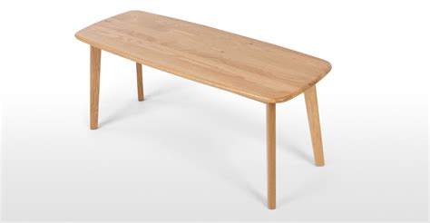 Fjord Rectangle Dining Table and Bench Set Oak Made