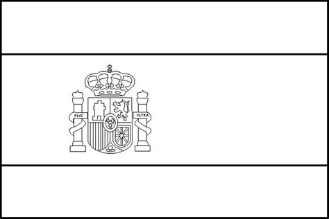 Flag of Spain coloring page Free Printable Coloring Pages