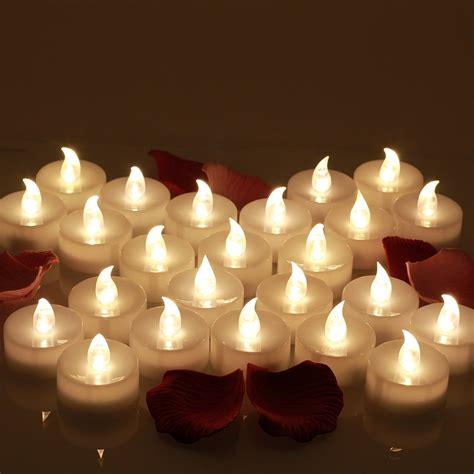 Flameless LED Tea Light Candles Realistic Battery