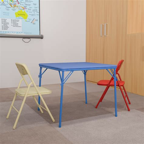 Flash Furniture Kids Colorful 3 Piece Folding Table and