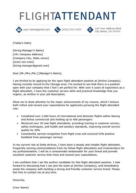 Flight Attendant Cover Letter Example thebalance