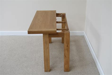 Flip Top Oak Dining Tables Narrow Folding Console Tables