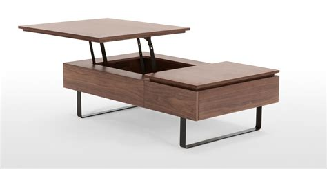 Flippa Functional Coffee Table with Storage Walnut made