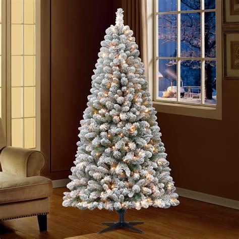 Flocked Christmas Trees Walmart