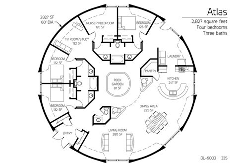 Floor Plans by square footage Monolithic Dome Institute