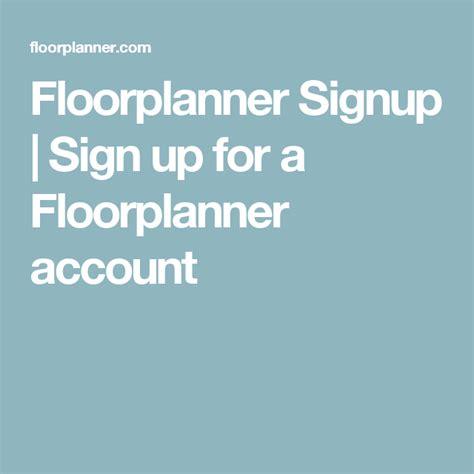 Floorplanner Signup Signup for a Floorplanner account