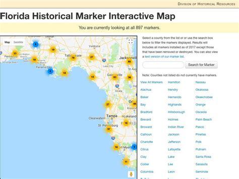Florida Historical Marker Interactive Map