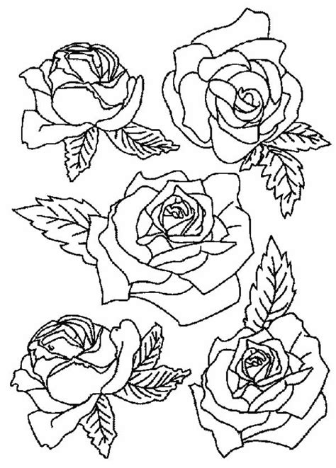 Flower Bouquet of Roses Coloring Page Color Luna