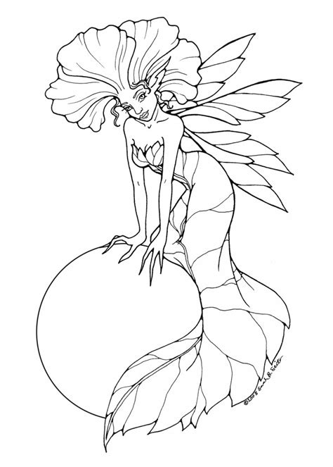 Flying Fairy Coloring Page Free Online Coloring Pages