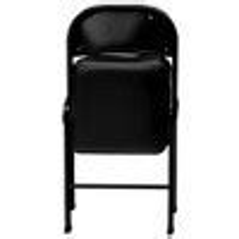 Folding Chair Vinyl Padded Black Plastic Dev Group Target