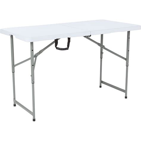 Folding Table with Adjustable Height 4 Foot Long with