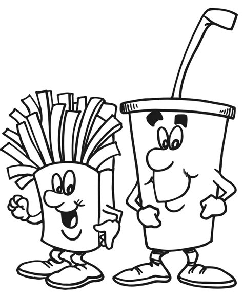 Food and Drink Coloring Pages ColoringBookFun
