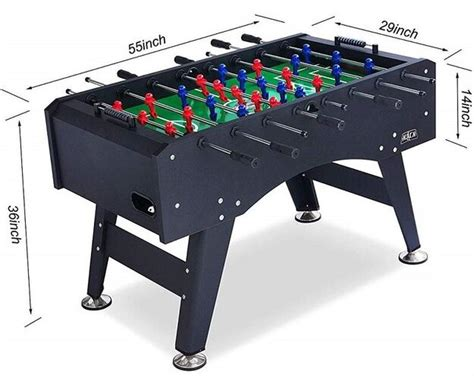 Foosball Table Dimensions Sizes Measurements for