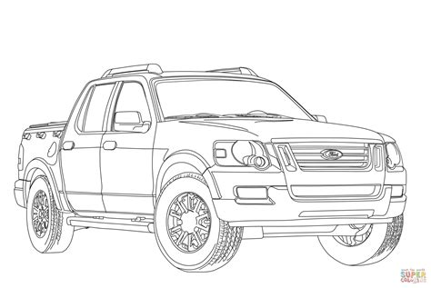 Ford Explorer Sport Trac coloring page Free Printable