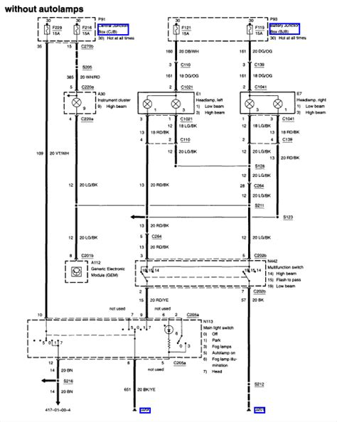 2001 ford f250 headlight wiring diagram 2001 image 2001 ford taurus headlight wiring diagram images 93 ford taurus on 2001 ford f250 headlight wiring