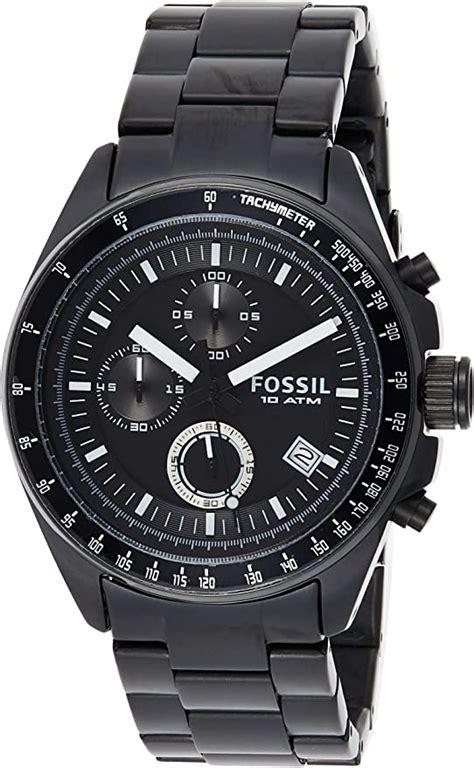 Fossil Men s CH2601 Decker Black Stainless Steel