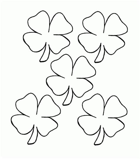Four Leaf Clover coloring page Free Printable Coloring Pages