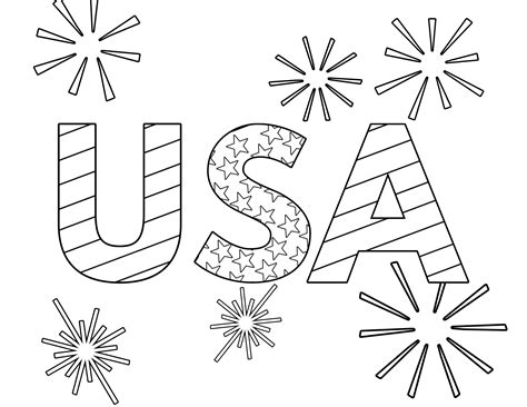 Fourth of July and USA Coloring Pages