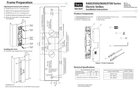 hes 9600 electric strike wiring diagram images electric strike wiring diagram frame preparation 9400 9500 9600 9700 series hes inc