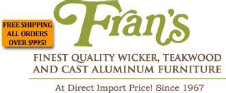 Fran s Finest Quality Wicker Teakwood and Cast Aluminum