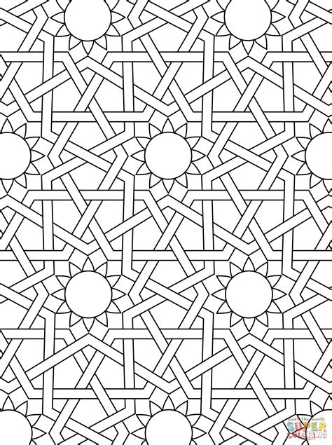 Free Coloring Pages - Islamic Pictures, Patterns & Mandala