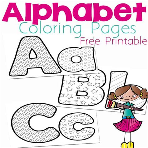 Free Alphabet Coloring Pages Life Over Cs