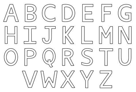Free Alphabet Coloring Pages Parents