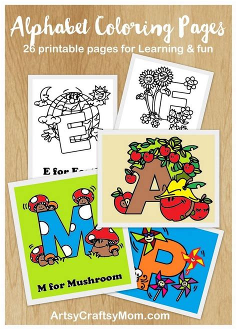 Free Alphabet Letters Coloring Pages Artsy Craftsy Mom