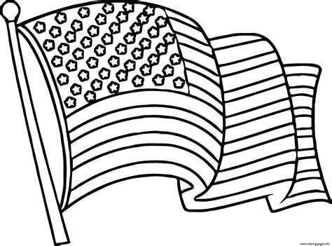 Free American Flag Coloring Pages United States Flag