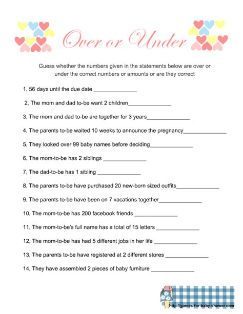 Free Baby Shower Games OVER 150 FREE Printable Shower
