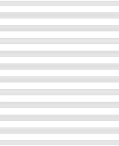 Free Blank Sheet Music with Margins Music Paper