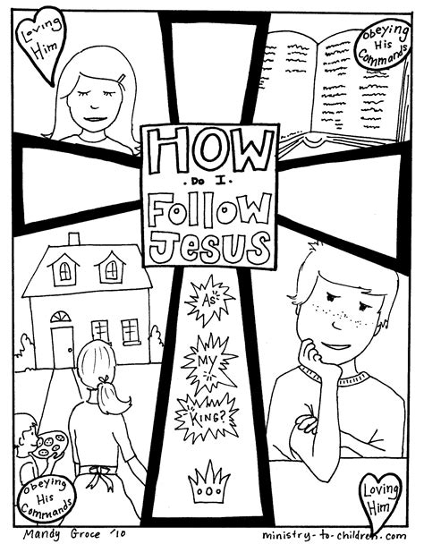 Free Christian Coloring Pages for Kids from Ministry To