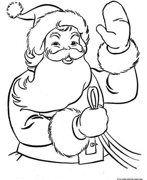 Free Christmas Recipes Coloring Pages for Kids Santa