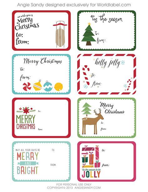 Free Christmas Templates Printable Gift Tags Cards