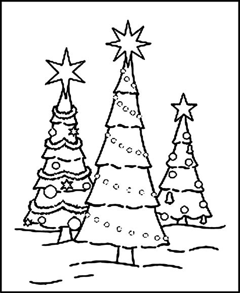 Free Christmas Tree Coloring Pages Printable