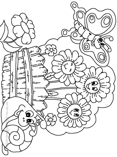 Free Coloring Pages for Kids and Patterns Graphic Garden