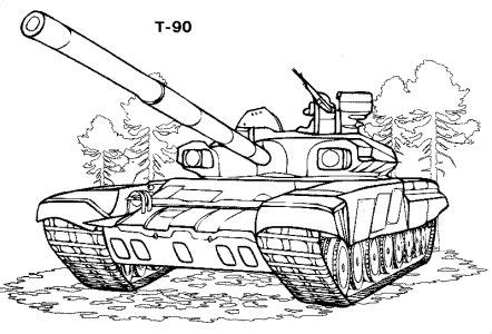 Free Coloring pages for boys and girls Technique Tanks