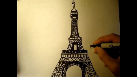 Free Drawing Lesson How to Draw the Eiffel Tower Easy