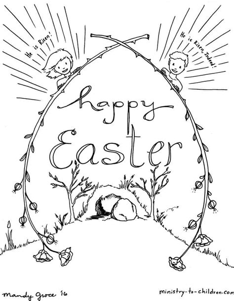 Free Easter Coloring Pages Kids Ministry