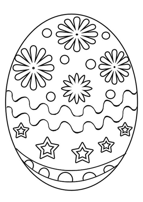 Free Easter Printables for Kids Easter Coloring Egg